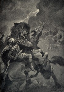 Odin_and_Fenrir