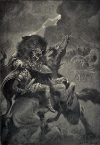 Odin_and_Fenrir