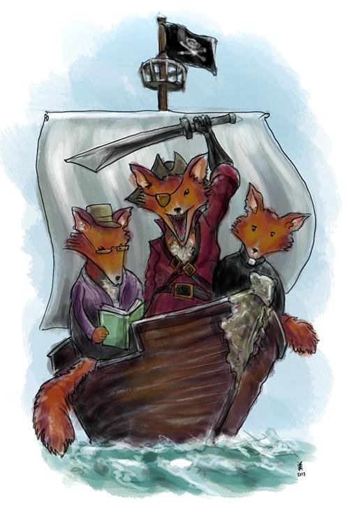 three foxes